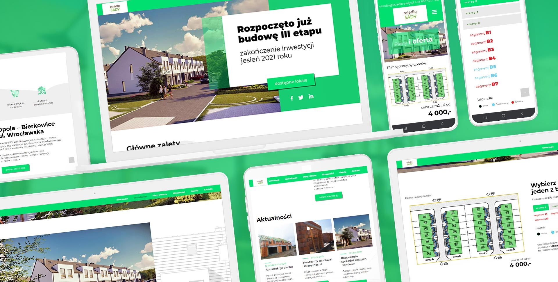 strona internetowa dla dewelopera Opole